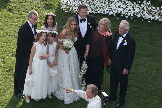 Vida Press nuotr./Trevoro Engelsono ir Tracey Kurland vestuvių akimirka