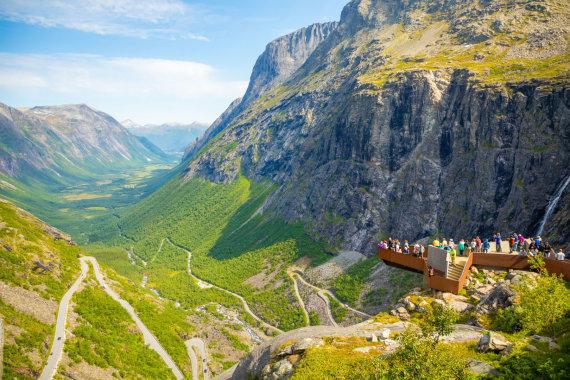 123rf.com nuotr./Trolių laiptai (Trollstigen)