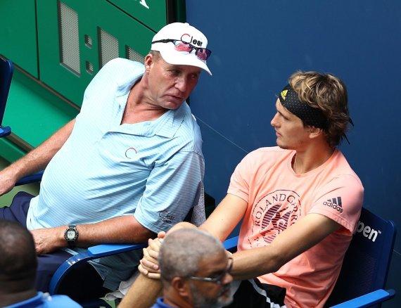 """AFP/""""Scanpix"""" nuotr./Ivanas Lendlas ir Alexanderis Zverevas"""