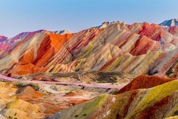 """""""Shutterstock"""" nuotr./Vaivorykštės kalnai, Kinija"""