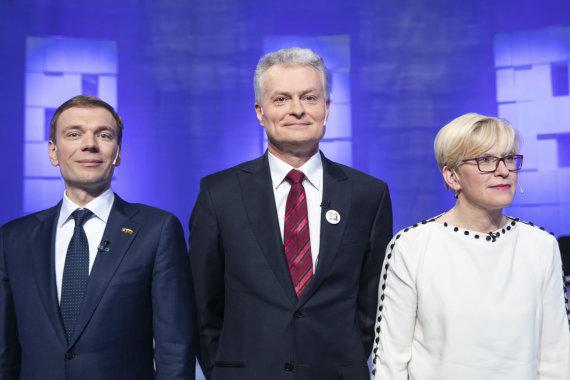 Luko Balandžio / 15min nuotr./Mindaugas Puidokas, Gitanas Nausėda, Ingrida Šimonytė