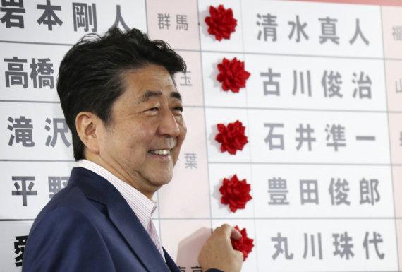 """""""Scanpix""""/AP nuotr./Shinzo Abe"""