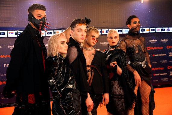 """""""Reuters""""/""""Scanpix"""" nuotr./Islandijos atstovai """"Eurovizijoje"""" grupė """"Hatari"""""""