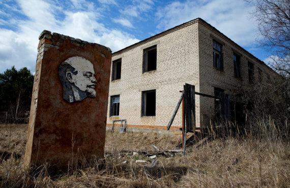 """""""Reuters""""/""""Scanpix"""" nuotr./Paminklas Leninui Černobilyje"""