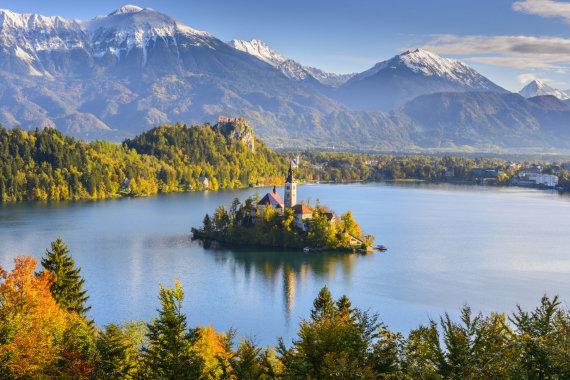 123rf.com nuotr./Bledo ežeras Slovėnijoje