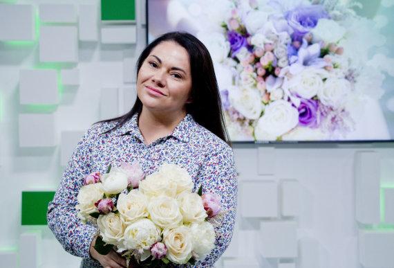 Valdo Kopūsto / 15min nuotr./15min studijoje – floristė ir vedybų planuotoja Inesa Borkovska