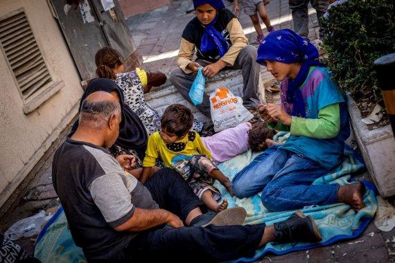 Vidmanto Balkūno/15min.lt nuotr./Pabėgėliai Izmiro mieste Turkijoje