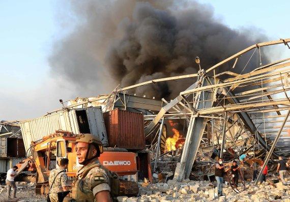 "AFP/""Scanpix"" nuotr./Sprogimas Beirute"