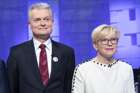 Luko Balandžio / 15min nuotr./Gitanas Nausėda, Ingrida Šimonytė