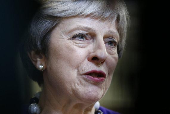 """""""Scanpix""""/""""Sipa USA"""" nuotr./Theresa May susitikimo Briuselyje rezultatais nenusivylė"""