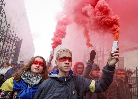 """Reuters""/""Scanpix"" nuotr./Protestas Kijeve"