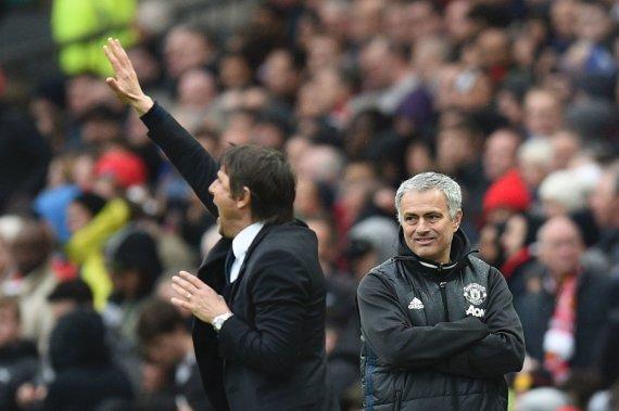 """""""Scanpix"""" nuotr./Jose Mourinho ir Antonio Conte"""