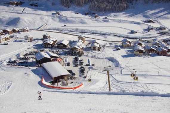 123rf.com nuotr./Italijos slidinėjimo širdis – Livinjas