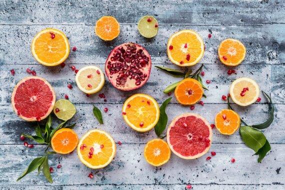 Vida Press nuotr./Citrusiniai vaisiai