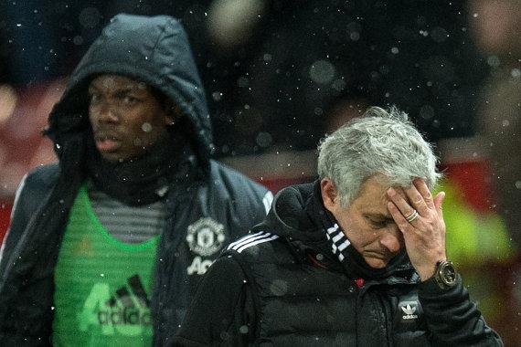 "AFP/""Scanpix"" nuotr./P.Pogba ir J.Mourinho"