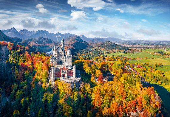 123rf.com nuotr./Vokietija. Noišvanšteino pilis