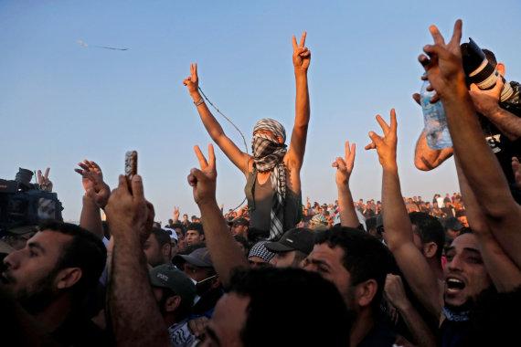 "AFP/""Scanpix"" nuotr./""Hamas"" rėmėjai Gazos Ruože"