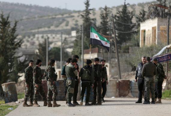 """""""Reuters""""/""""Scanpix"""" nuotr./Sirijos demokratinės pajėgos Afrine"""