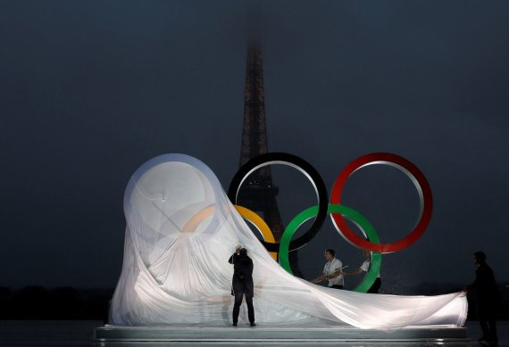 """""""Reuters""""/""""Scanpix"""" nuotr./ Olimpiniai žiedai"""