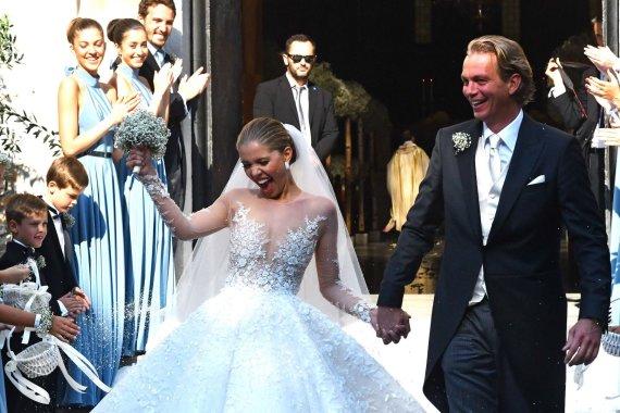 """Vida Press nuotr./""""Swarovski"""" paveldėtojos Victorios Swarovski vestuvių akimirka"""
