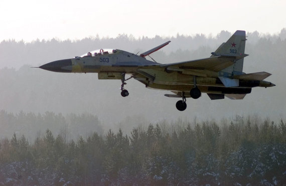 """Reuters""/""Scanpix"" nuotr./Naikintuvas Su-30"