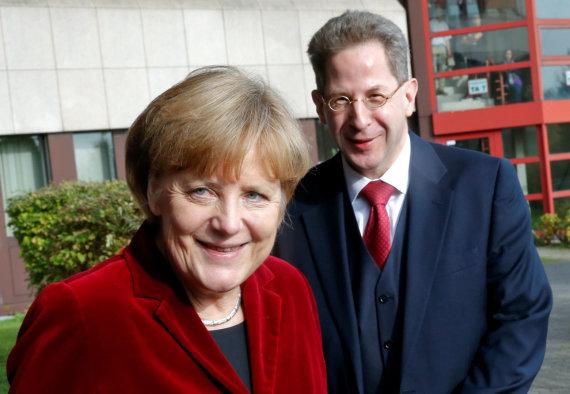 """""""Reuters""""/""""Scanpix"""" nuotr./Angela Merkel ir Hansas-Georgas Maassenas"""