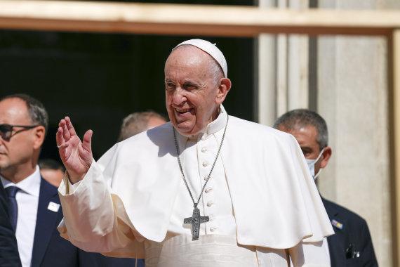 """""""Scanpix""""/AP nuotr./Popiežius Pranciškus Slovakijoje"""