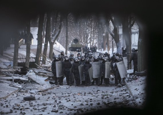 """Reuters""/""Scanpix"" nuotr./""Berkut"" Kijeve"
