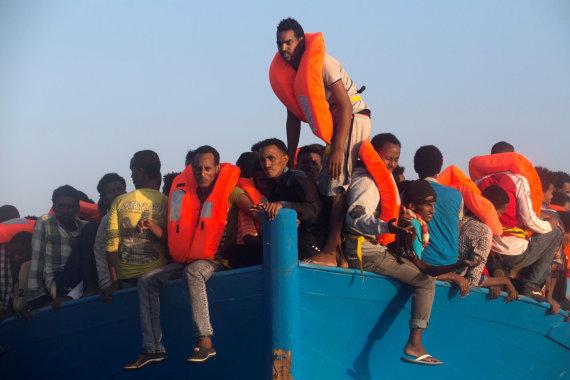 """""""Reuters""""/""""Scanpix"""" nuotr./Pabėgėliai iš Eritrėjos"""