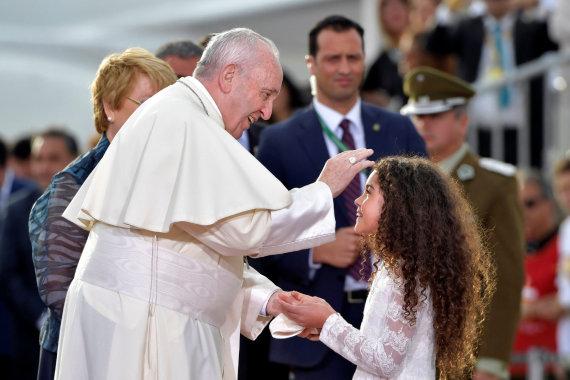 """""""Reuters""""/""""Scanpix"""" nuotr./Popiežiaus Pranciškaus vizitas Čilėje"""