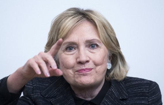 """Scanpix""/""PA Wire""/""Press Association Images"" nuotr./Hillary Clinton"