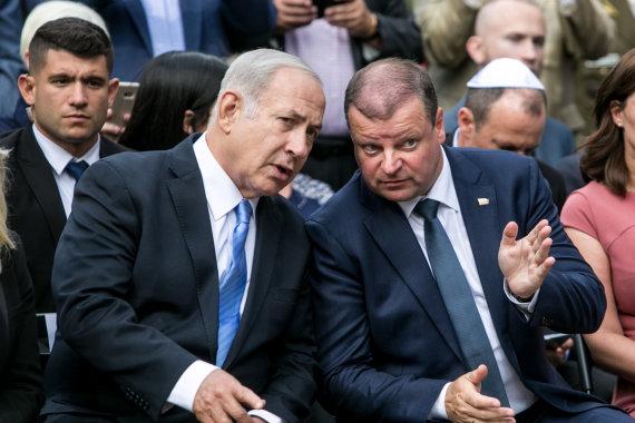 Juliaus Kalinsko / 15min nuotr./Benjaminas Netanyahu ir Saulius Skvernelis