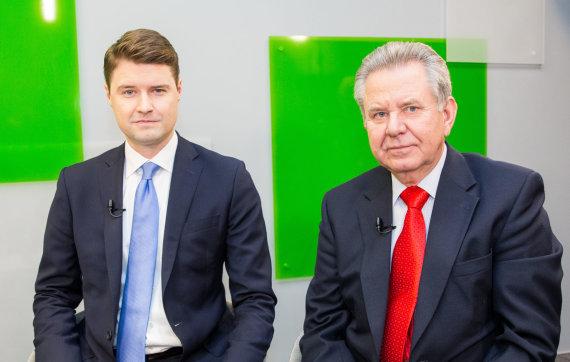 Luko Balandžio / 15min nuotr./Mykolas Majauskas ir Gediminas Žižys
