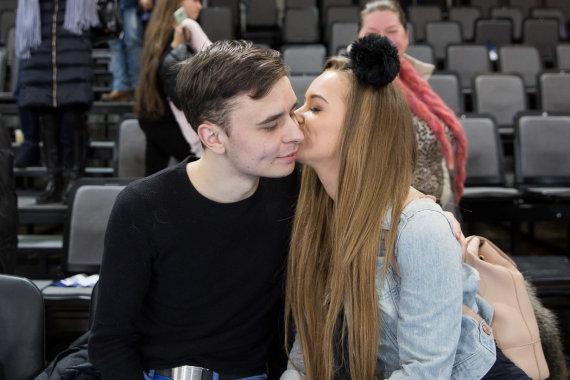 Žygimanto Gedvilos / 15min nuotr./Monika Šalčiūtė su draugu