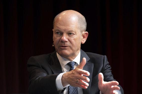 """""""Scanpix""""/AP nuotr./Socialdemokratų kandidatas į kanclerius Olafas Scholzas"""