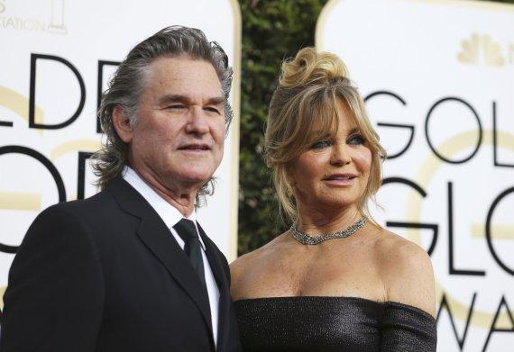 """""""Reuters""""/""""Scanpix"""" nuotr./Kurtas Russellas ir Goldie Hawn"""