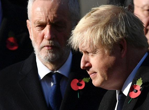 """AFP/""""Scanpix"""" nuotr./Jeremy Corbyno ir Boriso Johnsono laukia svarbūs debatai"""