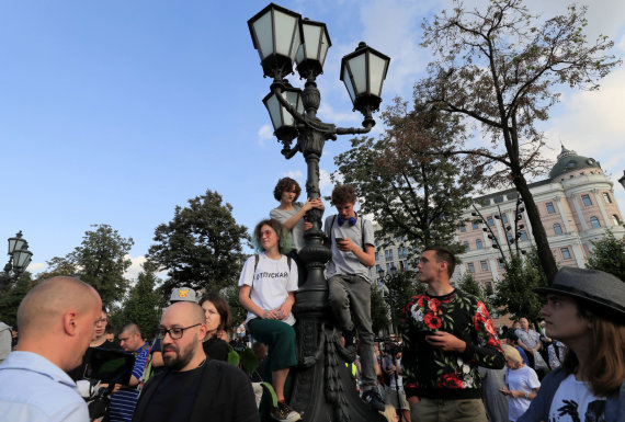 """Reuters""/""Scanpix"" nuotr./Protestas Maskvoje"