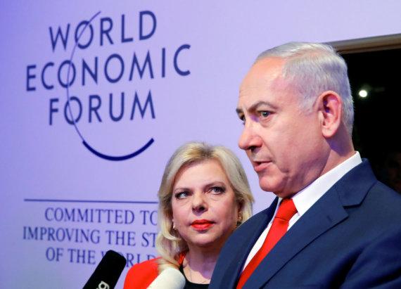 """Reuters""/""Scanpix"" nuotr./Sara ir Benjaminas Netanyahu"