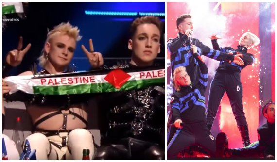 """Stop kadras ir 15min nuotr./Islandijos atstovai """"Eurovizijoje"""" grupė """"Hatari"""""""