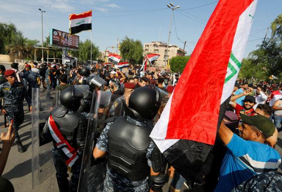 """""""Reuters""""/""""Scanpix"""" nuotr./Antivyriausybiniai protestai Bagdade"""