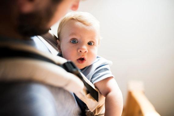 Vida Press nuotr./Kūdikis virtuvėje
