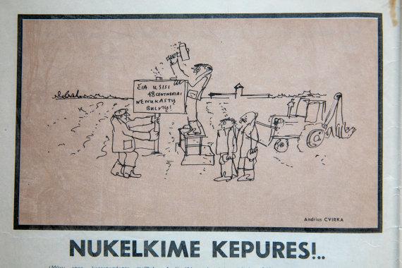 Eglės Vilčiauskaitės archyvas/Sovietmečio karikatūros