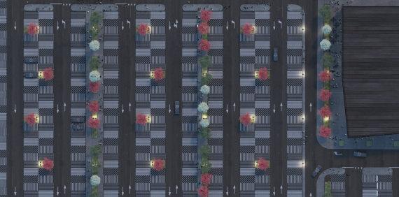 """Naujasis """"Ogmios miesto"""" parkingas"""