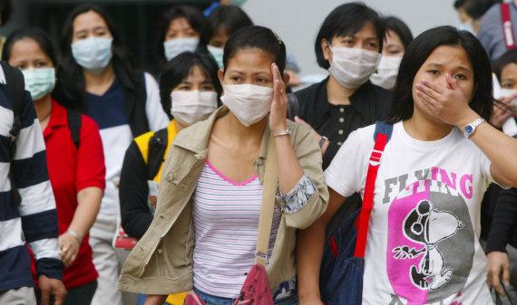 """""""Reuters""""/""""Scanpix"""" nuotr./Kinijoje plinta SARS viruso atmaina"""