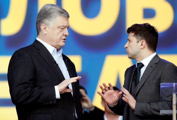 """Reuters""/""Scanpix"" nuotr./Petro Porošenka ir Volodymyras Zelenskis"