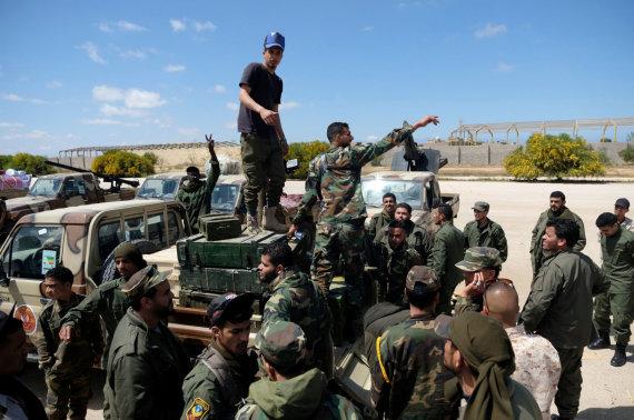 """""""Reuters""""/""""Scanpix"""" nuotr./Khalifos Haftaro vadovaujami kariai"""