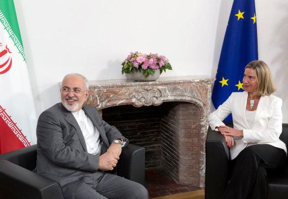 """Reuters""/""Scanpix"" nuotr./Mohammadas Javadas Zarifas ir Federica Mogherini"