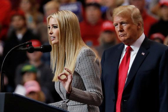 """""""Reuters""""/""""Scanpix"""" nuotr./Ivanka ir Donaldas Trumpai"""