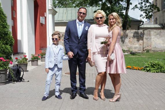 Vidmanto Balkūno / 15min nuotr./Regvita Macdonald su šeima
